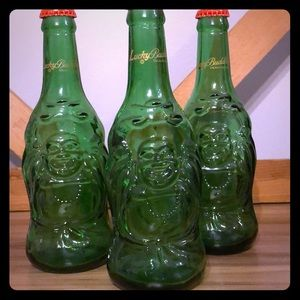 Set of Lucky Buddha Beer Bottles